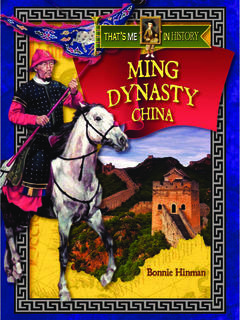 Ming Dynasty China
