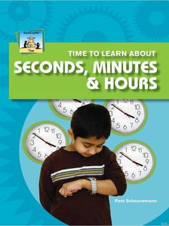 Time to Learn about Seconds, Minutes, & Hours