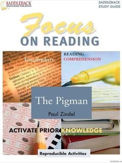 The Pigman Reading Guide