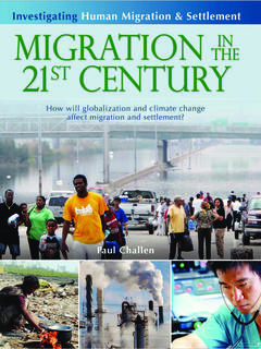 Migration in the 21st Century: How will globalization and climate change affect migration and settle