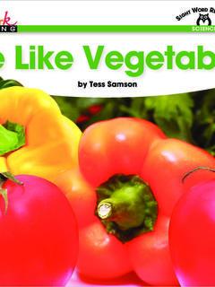 We Like Vegetables