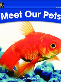 Meet Our Pets