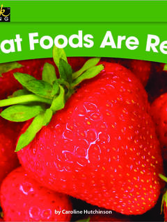 What Foods Are Red?