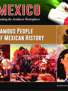 Famous People of Mexican History