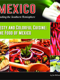 Zesty and Colorful Cuisine: The Food of Mexico