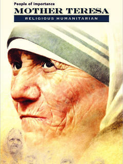 Mother Teresa: Religious Humanitarian