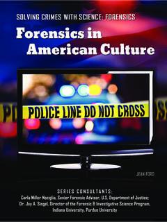 Forensics in American Culture