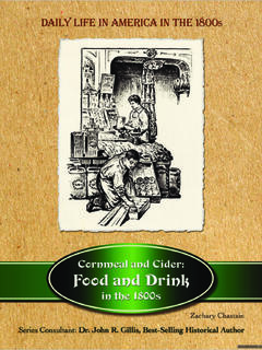 Cornmeal and Cider: Food and Drink in the 1800s