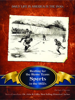 Rooting for the Home Team: Sports in the 1800s