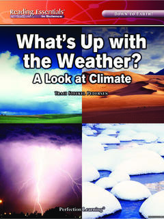 What's Up with the Weather? A Look at Climate